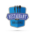 blue restaurant design vector image