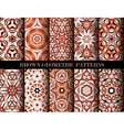 Brown geometric patterns set vector image vector image