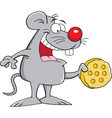 Cartoon Mouse with Cheese vector image vector image