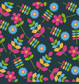 Colored flowers decorative pattern background