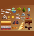 computer games cartoon elements 3d set vector image