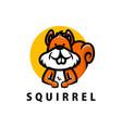 cute squirrel cartoon logo icon vector image vector image