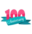 Cute Template 100 Years Anniversary Sign vector image vector image