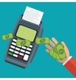 dataphone technology pay bills vector image vector image