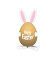 easter egg easter rabbit easter bunny vector image