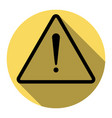 exclamation danger sign flat style flat vector image vector image