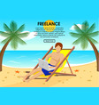 flat freelance concept vector image vector image