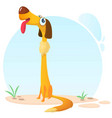 funny and happy cartoon dog vector image vector image