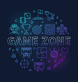 game zone concept round colored thin line vector image vector image