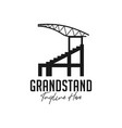 grandstand building inspiration logo vector image vector image