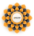Greeting card or background with orange flower vector image