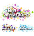 Happy birthday colour backgrounds vector image vector image