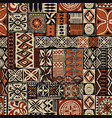 hawaiian style tapa tribal fabric vector image vector image