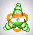 indian flag design vector image
