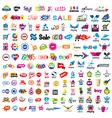 large set of logos shopping vector image