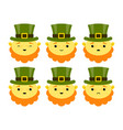 leprechauns characters for st patricks day vector image