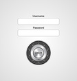 login form ui element on computer style vector image