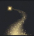 magic realistic stars glowing shape from sparks vector image