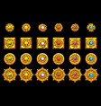 maya icons american aztec mayan culture vector image vector image