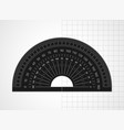 measuring tool black plastic protractor vector image