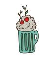 milkshake drink icon vector image