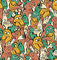 Monsters seamless background vector image