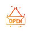 open icon design vector image