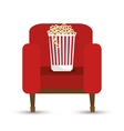 pop corn bucket white background vector image vector image