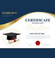 realistic academic certificate vector image