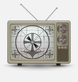 Realistic old vintage tv