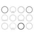 round rope frame circle ropes rounded border and vector image vector image