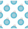seamless pattern with blue christmas ball vector image vector image