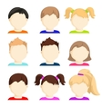 set of child face icons vector image vector image