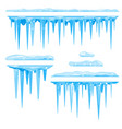 set of icicles cluster vector image vector image