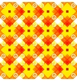 Simple yellow background with rombs vector image vector image
