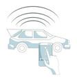 smartphone car control vector image vector image