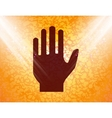 Stop hand Flat modern web button and space for vector image