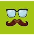 symbol fathers day tie glasses icon design vector image