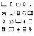 technology devices and multimedia gadgets icons vector image