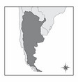 the map of argentina vector image vector image