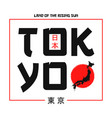 tokyo typography graphics for t shirt with japan vector image vector image