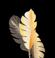 tropical miracle autumn palm leaves vector image