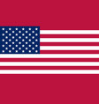 united state of america flag in correct vector image