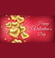 valentines day horizontal banner with shining vector image vector image
