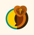 wild owl logo creative design vector image vector image