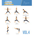 yoga poses for concept balancing standing poses vector image vector image