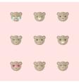 minimalistic flat bear emotions icon set vector image