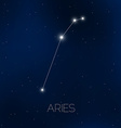 Aries constellation in night sky vector image vector image