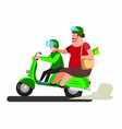 big mom go to market to shopping with motorcycle vector image vector image