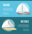 big sails flyers with sailboats vector image vector image
